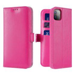 Dux Ducis Kado Flipes tárca típusú tok iPhone 11 rózsaszín tok telefon tok hátlap