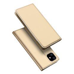 DUX DUCIS Skin Pro Könyvtartó típusú tok iPhone XI 6.1 arany tok telefon tok hátlap