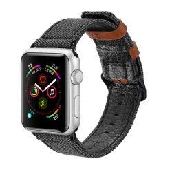 Dux Ducis Litchi Grain Band Watch karkötő csattal négy 44mm / 42mm Watch 3 / Watch 2 42mm / 42mm fekete Watch 1 tok telefon tok hátlap