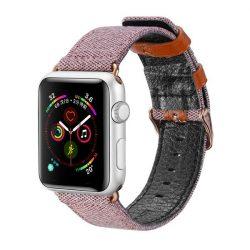 Dux Ducis Litchi Grain Band Watch karkötő csattal négy 44mm / 42mm Watch 3 / Watch 2 42mm / 42 mm-es egy rózsaszín Watch tok telefon tok hátlap