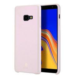 DUX DUCIS Skin Lite PU bőr tok Samsung Galaxy J4 Plus 2018 J415 rózsaszín tok telefon tok hátlap
