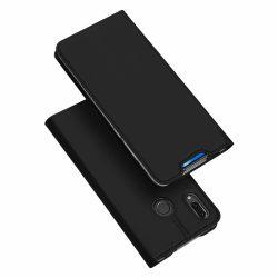 DUX DUCIS Skin Pro könyvtartó típusú tok Huawei P Smart Z fekete telefon tok telefontok (hátlap)