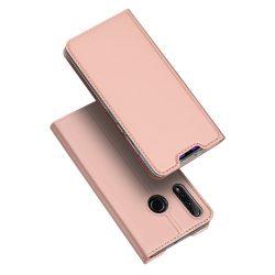 DUX DUCIS Skin Pro Könyvtartó típus tok Huawei Honor 20 Lite rózsaszín tok telefon tok hátlap