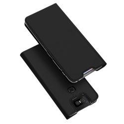 DUX DUCIS Skin Pro Könyvtartó típus tok Asus Zenfone 6 ZS630KL fekete tok telefon tok hátlap