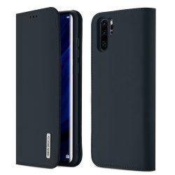 DUX DUCIS Wish valódi bőr Könyvtartó típus tok Huawei P30 Pro kék tok telefon tok hátlap