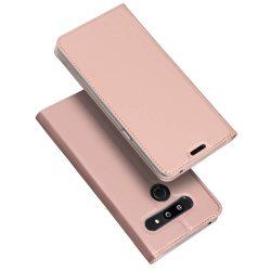 DUX DUCIS Skin Pro Flipes tok telefon tok LG G8 ThinQ rózsaszín
