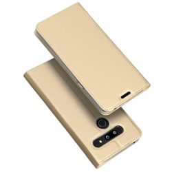 DUX DUCIS Skin Pro Flipes tok telefon tok LG G8 ThinQ arany