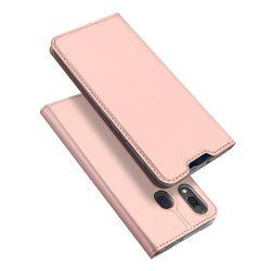 DUX DUCIS Skin Pro Könyvtartó típus tok Samsung Galaxy A20e rózsaszín telefon tok telefontok
