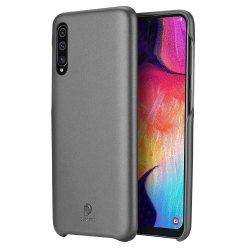 DUX DUCIS Skin Lite PU bőr tok Samsung Galaxy A7 2018 A750 fekete telefon tok telefontok (hátlap)