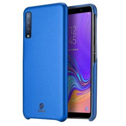 DUX DUCIS Skin Lite PU bőr tok Samsung Galaxy A7 2018 A750 kék telefon tok telefontok (hátlap)
