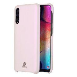 DUX DUCIS Skin Lite PU bőr tok Samsung Galaxy A7 2018 A750 rózsaszín tok telefon tok hátlap