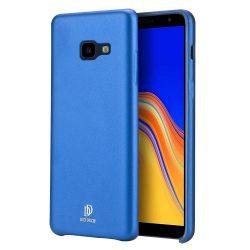 DUX DUCIS Skin Lite PU bőr tok Samsung Galaxy J4 Plus 2018 J415 kék tok telefon tok hátlap