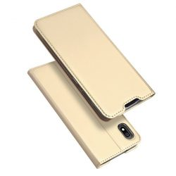 DUX DUCIS Skin Pro Könyvtartó típus tok Samsung Galaxy A10 arany tok telefon tok hátlap