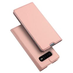DUX DUCIS Skin Pro Flipes tok telefon tok Samsung Galaxy S10 Plus rózsaszín