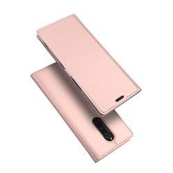 DUX DUCIS Skin Pro Flipes tok telefon tok Sony Xperia 1 rózsaszín