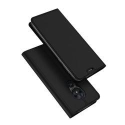 DUX DUCIS Skin Pro Könyvtartó típus tok Motorola Moto G7 Játssz fekete tok telefon tok hátlap