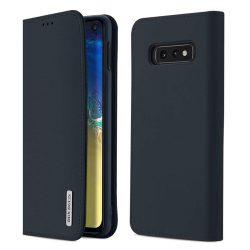 DUX DUCIS Wish valódi bőr Flipes tok telefon tok Samsung Galaxy S10e kék