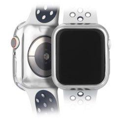 DUX DUCIS 2x Gel telefon tok hátlap tok TPU Cover Apple Watch 4 44mm ezüst és átlátható