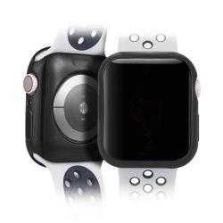 DUX DUCIS 2x Gel telefon tok hátlap tok TPU Cover Apple Watch 4 44mm fekete és átlátszó