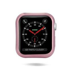 DUX DUCIS 2x Gel telefon tok hátlap tok TPU Cover Apple Watch 4 44mm rózsaszín és átlátszó