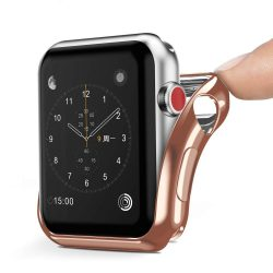 DUX DUCIS Gel telefon tok hátlap tok TPU Cover Apple Watch sorozat 2/3 42 mm arany (Champagne Gold)