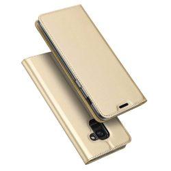 DUX DUCIS Skin Pro Flipes tok telefon tok Samsung Galaxy J6 2018 J600 arany