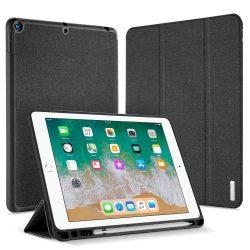 DUX DUCIS Domo Tablet Cover Multi-szög állvány és a Smart Alvás funkció + Toll Slot Apple iPad 9,7 2018 / 9,7 2017 fekete
