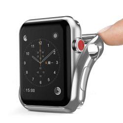 DUX DUCIS Gel telefon tok hátlap tok TPU Cover Apple Watch sorozat 2/3 38 mm ezüst