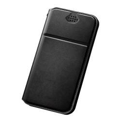 DUX DUCIS Minden univerzális telefon tok telefontok Flip Cover 5,5-6 inch okostelefonok - L - fekete