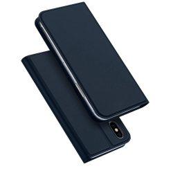 DUX DUCIS Skin Pro Flipes tok telefon tokú tok telefon tok hátlap iPhone XS / X kék