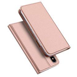 DUX DUCIS Skin Pro Flipes tok telefon tokú tok telefon tok hátlap iPhone XS / X pink