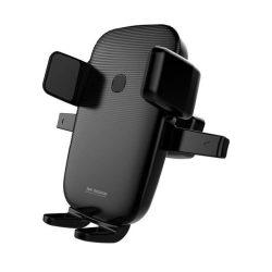 WK Design vezeték nélküli töltő Autós tartó Phone Bracket Autós légbeömlőre rögzíthető + Qi töltő 10W fekete (WP-U47 fekete)