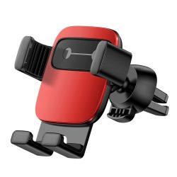Baseus Cube Gravity Car Mount Air Vent Phone Bracket tartó piros (SUYL - FK09) tok telefon tok hátlap