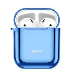 Baseus Shining hook Silica Gel tok fólia Airpods 1/2 kék (ARAPPOD-A03) tok telefon tok hátlap