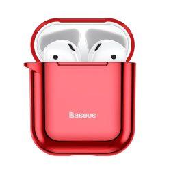 Baseus Shining hook Silica Gel tok fólia Airpods 1/2 piros (ARAPPOD-A09) tok telefon tok hátlap