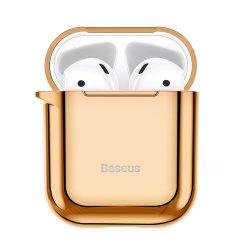 Baseus Shining hook Silica Gel tok fólia Airpods 1/2 arany (ARAPPOD-A0V) tok telefon tok hátlap