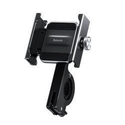 Knight fém Baseus telefon tartó kerékpár kormánya motorkerékpár fekete (CRJBZ-01)