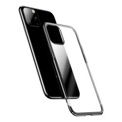 Baseus Glitter PC kemény átlátszó Galvanizálás tok iPhone 11 Pro Black (WIAPIPH58S-DW01) telefon tok telefontok (hátlap)