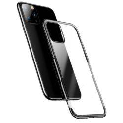 Baseus Glitter Hard PC tok átlátszó galvanizált tok iPhone 11 fekete (WIAPIPH61S-DW01) telefontok hátlap tok