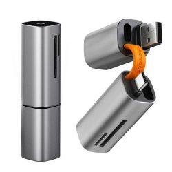 Baseus mini SD / micro SD / TF kártya olvasó USB / C típusú USB csatlakozó 5Gbps szürke (CADKQ-A0G)