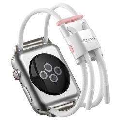 Baseus karkötő csattal sávot Apple Watch 42 mm / 44 mm-es fehér (LBAPWA4-B24) telefontok