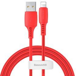Baseus Színes kábel USB / Lightning 2.4a 1.2m piros (CALDC-09)