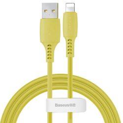 Baseus Színes kábel USB / Lightning 2.4a 1,2m sárga (CALDC-0Y)