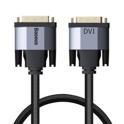 Baseus Enjoyment Series DVI apa DVI apa kétirányú adapter kábel 1m szürke (CAKSX-Q0G)