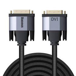 Baseus Enjoyment Series DVI apa DVI apa kétirányú adapter kábel 3m szürke (CAKSX-S0G)