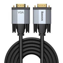 Baseus Enjoyment dwukierunkowy Kabel Przewód VGA / VGA 3m szary (CAKSX-V0G)