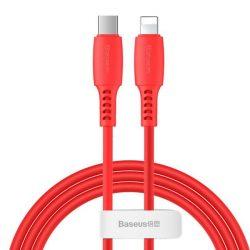 Baseus színes kábel USB Type C / Lightning Power Delivery 18W 1,2m piros (CATLDC-09)