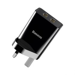 Baseus fali töltő UK adapter 2x USB 2.1A 10,5W fekete (CCFS-S01)