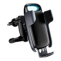 Baseus Tejút 15W vezeték nélküli Qi autós töltő telefon automatikus tartó fekete (WXHW02-01)