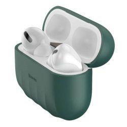 Baseus Shell Silica Gel tok fólia Apple Airpods Pro zöld (WIAPPOD-BK06) telefontok hátlap tok